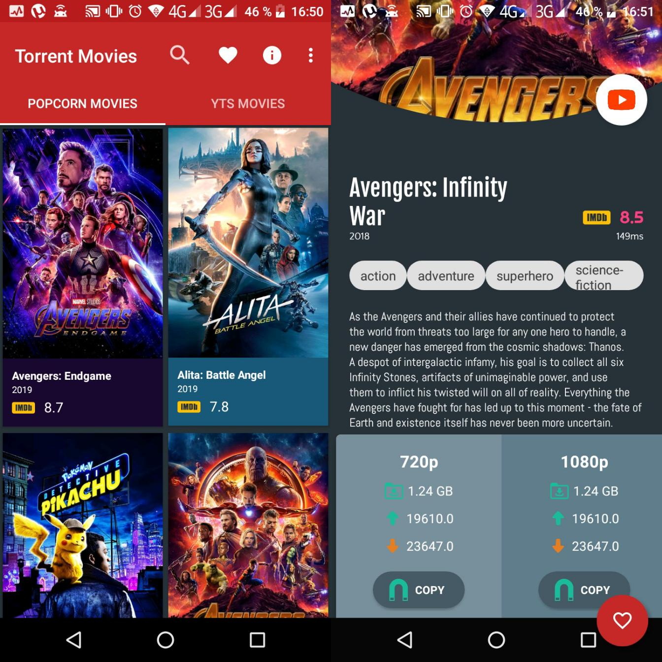 Movie Downloader | Torrent downloader YTS v2 0 [Ad Free